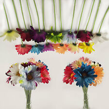 30x Assorted LARGE SINGLE STEM GERBERA ARTIFICIAL FLOWERS Wholesale Job Lot