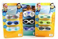 New Speedo Kids or Junior Unisex Swim Goggles 3-pack Free Shipping Variety