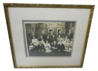 "Edwardian 1913 Zaracki Family Photograph Beautiful Frame 15""X13"" Names on Back"