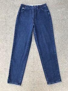 Vintage Lee Elastic Waist High Rise Mom Jeans 12L 30x32