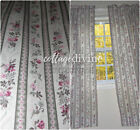 Vtg Country Curtains Victorian Style Pink Baby Roses Pair of Drape Panels