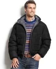 F.O.G. by London Fog Rocklin Reversible Down Puffer Jacket Black/Gray Me's Large