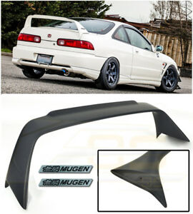 MUGEN Style Rear Lid Wing Spoiler Black Emblem Pair For 94-01 Acura Integra DC2