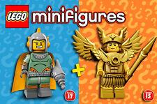 """LEGO Minifigures """"Flash Gordon"""" - Hawkman + Retro Space Hero - NEUF / NEW"""