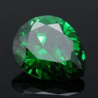 UNHEATED 5.26ct Green Sapphire Pear Cut Loose Gemstone Rings Jewelry 10*12MM