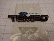 Ford OEM NOS E83Z-5442528-B Emblem Name Plate  TEMPO