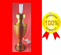 LIMITED EDITION 46cm TABLE LAMP KEMPELLY  DESIGN SOLID LAMINATED KWILA & MAPLE*