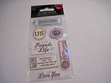 Scrapbooking Crafts Sandylion Dimensional Stickers You & Me Friends For Life