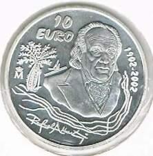 Spanje 10 euro 2002 Proof zilver PP: Rafael Alberti