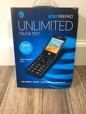 New At&T Prepaid Unlimited Talk And Text At&T Cingular Flip 2 Free Shipping
