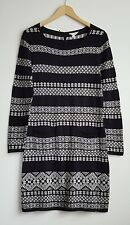 MONSOON LADIES BLACK/BEIGE JUMPER DRESS SIZE M