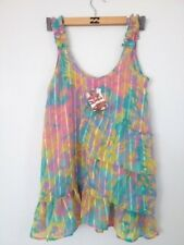 BNWT BILLABONG LADIES HOT TOPIC SHIFT TUNIC DRESS TOP RAINBOW (10) RRP $79.99