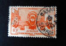 Afrique Occidentale Francaise    Cancelled  1952   Dakar Post Mark