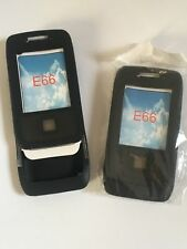 2 x SILICONE RUBBER GEL CASES COVERS SKINS FOR NOKIA E66 MOBILE PHONES - BLACK