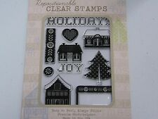 HERO ARTS BASICGREY HAPPY HOLIDAYS CL547 POLY CLEAR RUBBER STAMPS NEW A1074