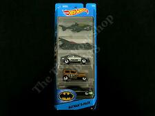 Hot Wheels Batman Die-cast Cars 5 Pack, Batcopter Batmobile Gotham Police Joker