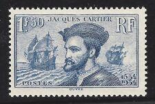 n°297 Jacques Cartier 1934 timbre Neuf** TB - Signé Calves