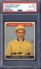 1933 Sport Kings Jockey #13 Laverne Fator PSA 4