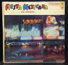 Various Fiesta Mexicana Con Mariachis LP VG CBS 1950s DCA-62 Mexico 6 Eye