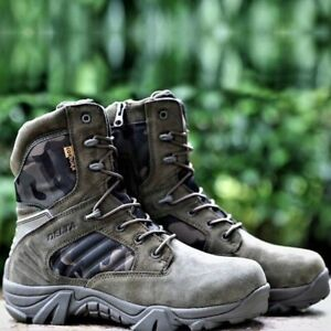 Men Desert Tactical Military Boots  Waterproof   Boot Lace Up Combat Ankle Boots