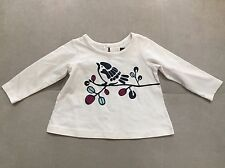 Tea Collection Girl Top Shirt With Bird Size 3-6 Month