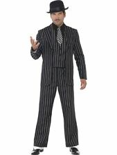 "Vintage Gangster Boss Costume, Chest 46""-48"", 1920's Razzle Fancy Dress #AU"