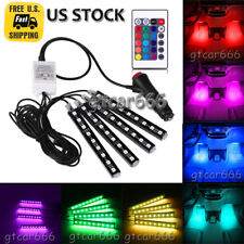 4x RGB Glow Colorful LED Interior Under Dash Seat Footwell Lighting Kit 36 LEDs