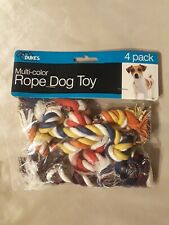 DUKES: Multi-color Rope Dog Chow Toy 4 pack, American Company