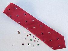 Tommy Hilfiger, Red  Penguins 100% Silk Neck Tie, 58L, 3 1/4W