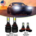 For Dodge Challenger 2015-2020 6000K White LED Headlights + Fog Lights Bulbs  for sale