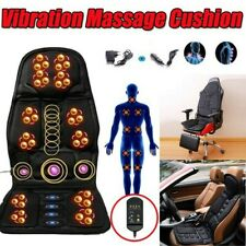 Adjustable Heated Back Massage Seat Cushion Car Seat Chair Massager Lumbar Neck