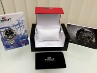TISSOT EMPTY LUXURY WATCH BOX WITH TRAVEL POUCH PILLOW AND BOOKS
