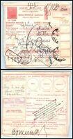1934 ITALY Parcel Receipt - Milano to Brussels, Belgium, Chiasso Swiss PM FL