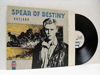 SPEAR OF DESTINY outland (1st uk press) LP EX/EX, DIX 59, vinyl, album, 1987,