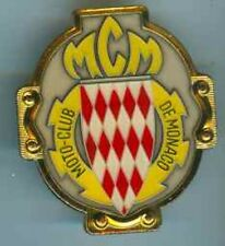 Monaco Moto Club.Brosche,Gold 53 x 59 mm.RS:2 Pins