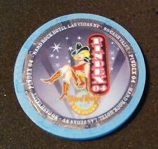Hard Rock Hotel Las Vegas 2004 Pindex Sexy Cowgirl on Neon Sign Blue Casino Chip