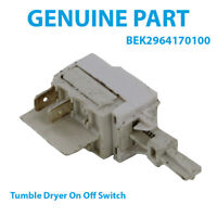 BEKO DC7110S DC7110W DC7112W Tumble Dryer Push Button On/Off Switch 2964170100