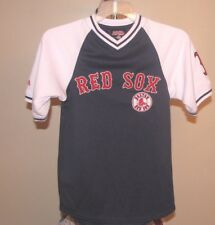 Boston Red Sox MLB Stitches Blue & White Red Sox Team Logo Youth Small Jersey