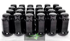 24 BLACK LUG NUTS | 14X1.5 | CHEVY GMC SILVERADO HUMMER | 6X5.5 + 6X139.7 6 LUG
