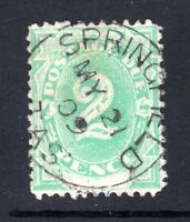 Tasmania 2d postage due (SG D3 1902) with SPRINGFIELD 1902 type 1a postmark