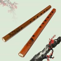 Chinese Bamboo 6-Hole Wood Color Instruments Musical Clarinet Flute