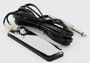 ULTRA THIN Stainless Steel FLAT FOOT SWITCH 8' Cord Tattoo Foot Pedal # TAT-597