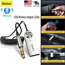USB Bluetooth 5.0 Audio Adapter Cable 3.5mm AUX Car HD Stereo Wireless Receiver