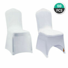 Wholesale 100Pcs Universal White Polyester Spandex Wedding Party Chair Covers