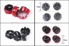 RED or BLACK Chrome Wheel Center Hub Cap Hub Cover For Benz AMG A45 CLA45 C63 GL