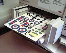 White Decal Film 1 Blatt Inkjet Bare Metall Foil