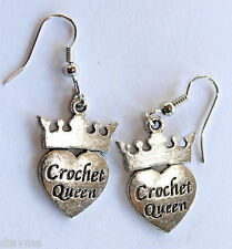 heart crown crochet queen EARRINGS Jewellery