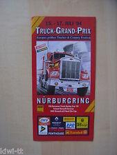 Camion grand prix, Nürburgring 15.-17.7.1994, programme Flyer
