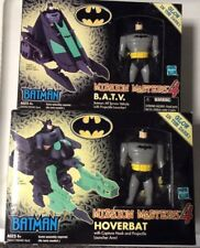 VINTAGE HASBRO BATMAN MISSION MASTERS 4 LOT OF (2) HOVERBAT & B.A.T.V. MIB