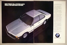 BMW 633CSi 2-Page PRINT AD - 1983